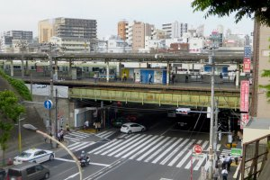 The west side of Nishi-Nippori Station