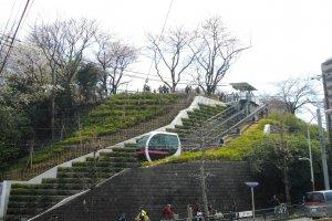 The short monorail leading into Asukayama Park
