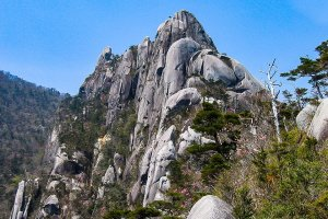 Mt. Ohkue's rocky peak