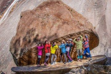 Trekkers at Pac-Man Rock