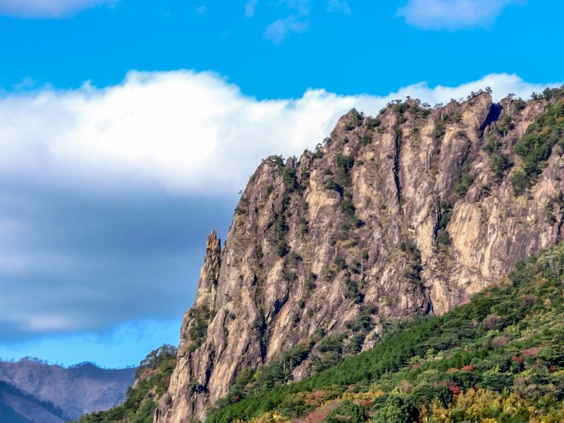 Mt. Hiei is one of the many draws for rock climbers and hikers