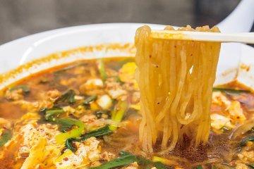 Karamen is a delicious bowl of spicy noodles