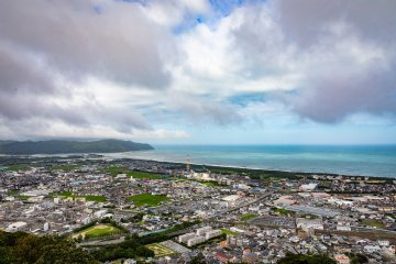 Overview of Nobeoka on the Pacific from Mt. Atago
