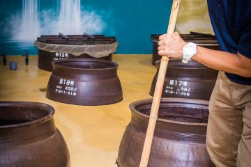 See how shochu is made at the Sato distillery