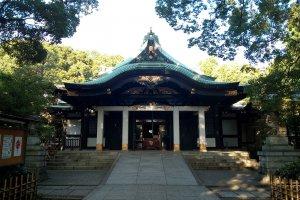 The main hall of Oji Shrine
