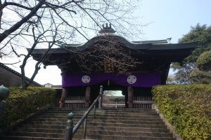 The sanmon gate at the temple