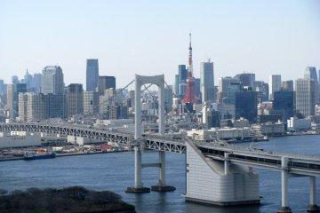 Вид Токио из здания FUJI TV