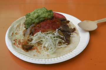 Tacos: to be eaten with a spoon, apparently