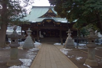 The temple with a dash of winter snow