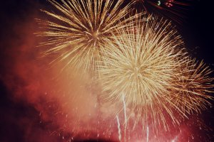 Fireworks are a symbol of Japanese summer.