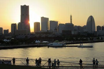 Sunset in Yokohama
