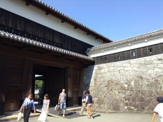Walk through the Nishi-Ote Gate to pass through one set of outer walls.