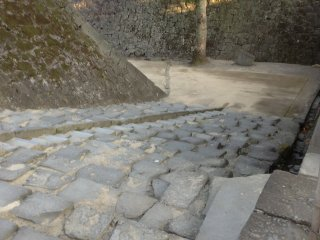 "If exiting back towards the parking lot, make sure to look the ""mapping stone"" stairs which are said to include representative images of Japan."