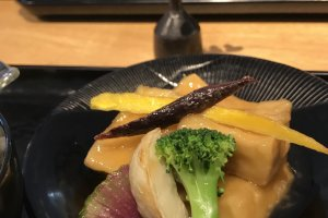 Shojin Ryori cuisine is available at the assembly hall cafe