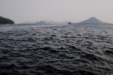 Hiroshima Port is washed by the waters of the Pacific Ocean.