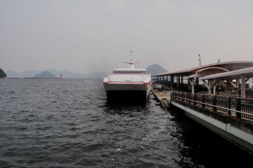 The Super Jet ferry to Matsuyama departs every hour from Deck 7.