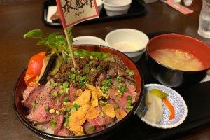 A meaty offering at Kukai Bistro, Minamiuonuma