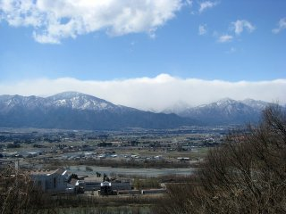 The Hida mountain range in Nagano