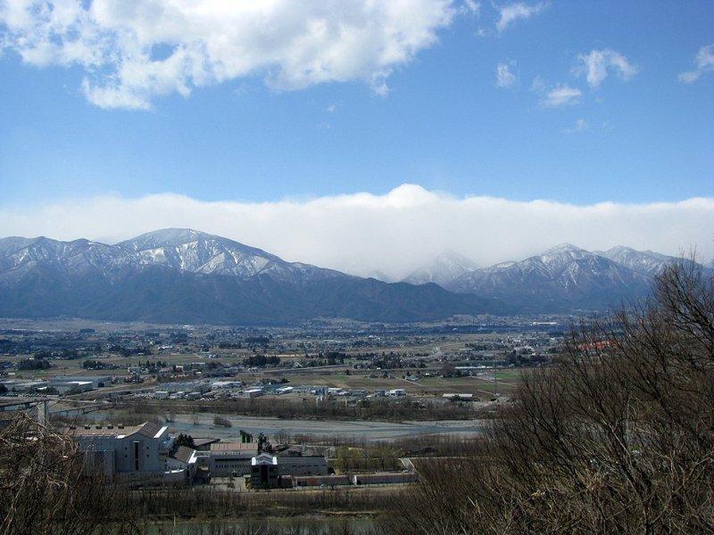 Горный хребет Хида в префектуре Нагано