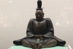 A  carved sculpture of Tokugawa Ieyasu at the Edo-Tokyo Museum