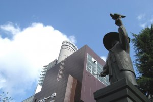 The monument to Tokugawa Ieyasu in Ryogoku