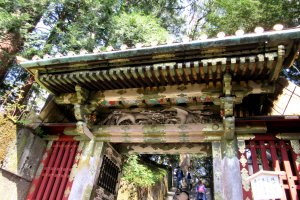 The gates leading to the tomb of Tokugawa Ieyasu