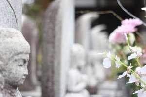 Statues at Bairin-ji in Kurume