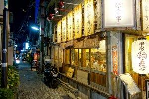 A backstreet in Kagurazaka