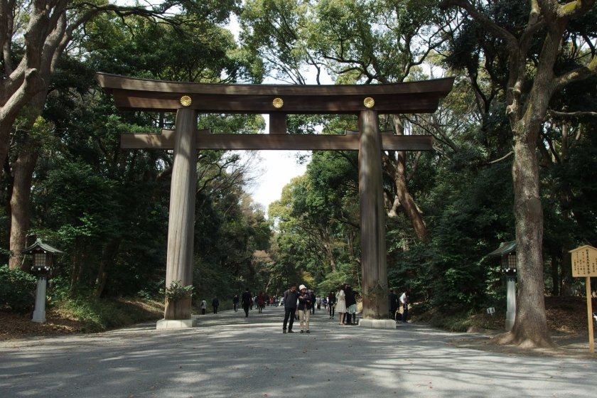 Torii gate, Meiji Jingu
