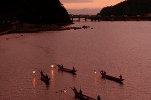 Ukai Cormorant fishing below Inuyama Castle