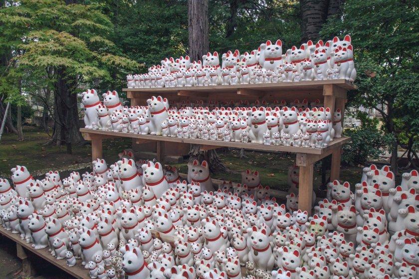 Gotokuji Temple\'s hundreds of maneko-neko