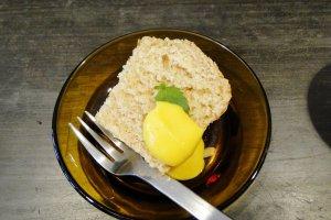 Bánh nướng xốp cà phê với kem mứt bí ngô