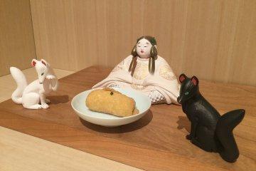 Fox messengers of the Shinto god Inari are said to love fried tofu skin.