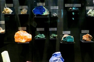 Piedras preciosas - Museo de los Dinosaurios de la prefectura de Fukui