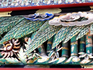 Carved bamboo decorated temples of Nikko