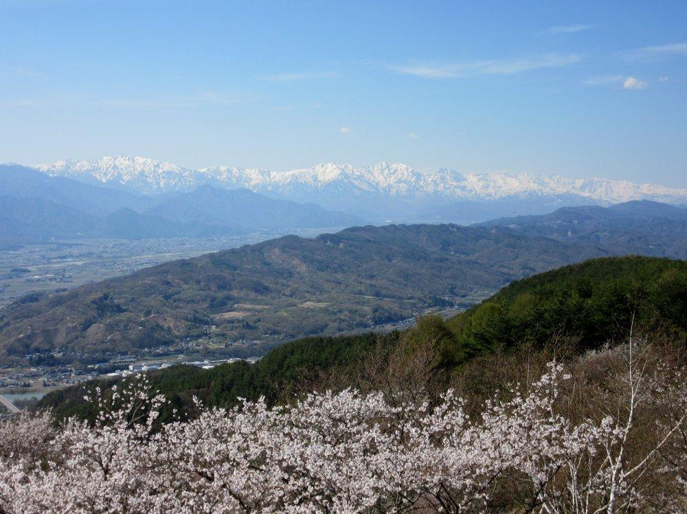 The view of Hida Range near Azumino