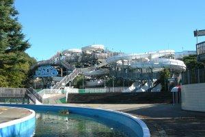 The huge water slide attraction