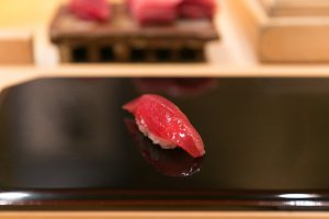 Maguro, an akami sushi topping