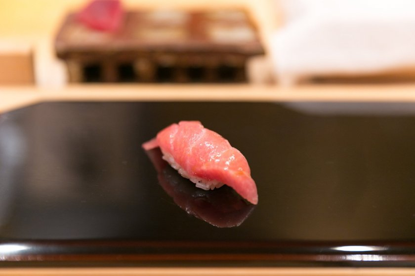 Otoro, one of sushi\'s most popular toppings.
