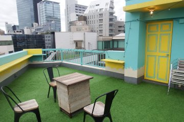 The outdoor rooftop BBQ area is lovely.