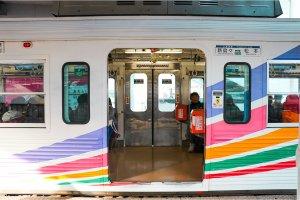 รถไฟสาย Masutmoto Electric Railway