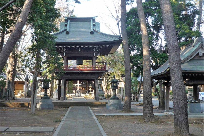 The amazing bell tower of Senryu-ji Temple