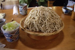 Soba noodles in Chofu City