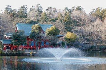 Benzaiten Pond at Inokashira Park, Mitaka City