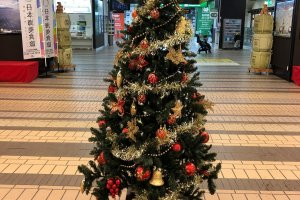 Echigo Yuzawa Station welcoming in Xmas