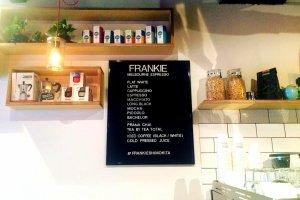 Cute menu on a letter board