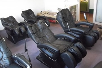 The massage chair room