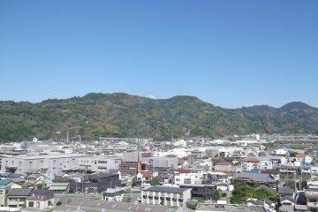 A view of the hills around Okitsu