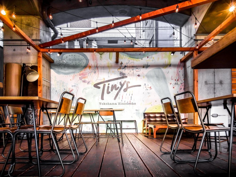 Opened in 2018, Tinys is a colorful and vibrant place to relax in