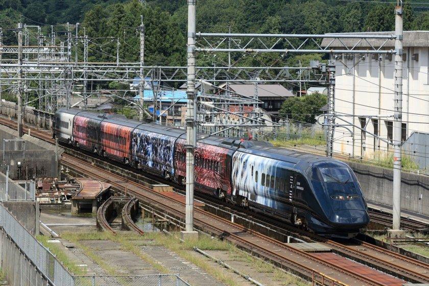 The exterior of the Genbi Shinkansen